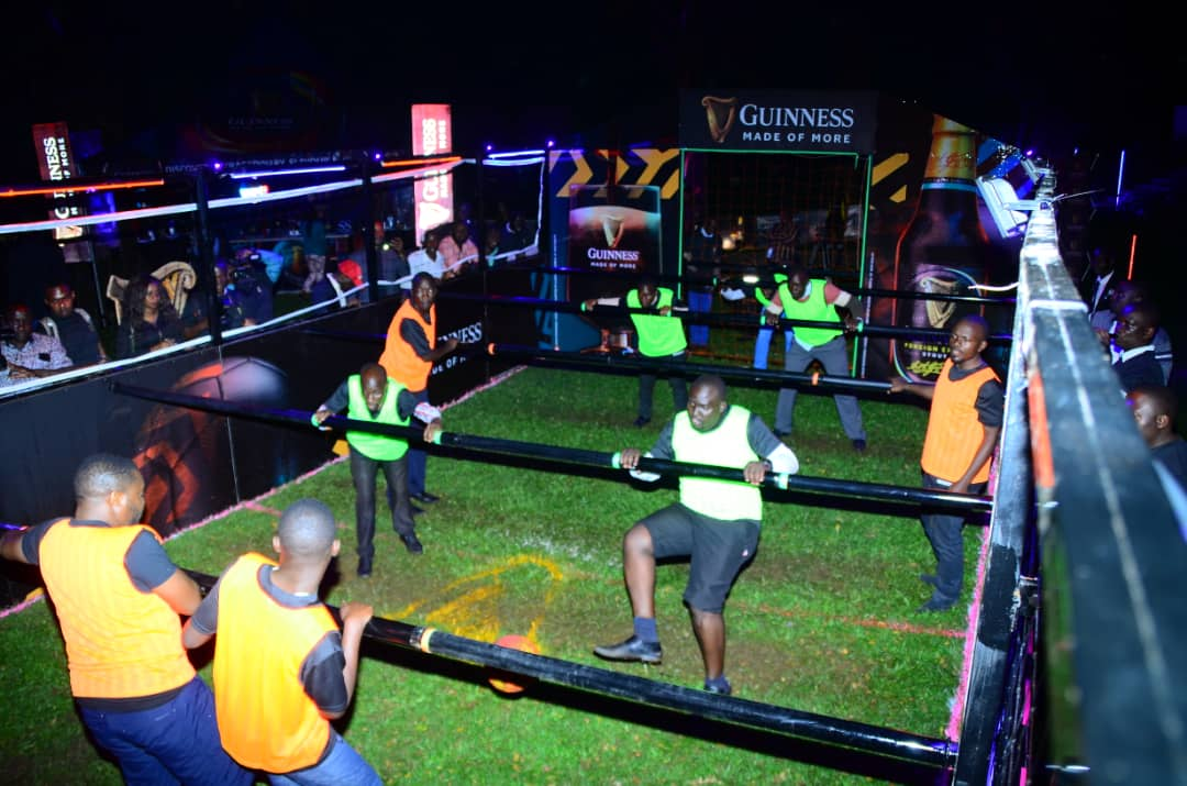 Some of the individuals competing in the 5 Aside Human Futsal at Kampala Serena Hotel ( Photo/Abraham Mutalyebwa)