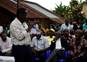 The Natural Resources Committee Chairperson Dr Kefa Kiwanuka has praised the progress of works and promised fast completion (PHOTO/PML Daily).