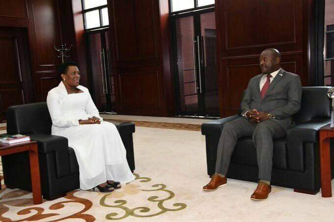 President Nkurunziza receives his wife as a special guest at the state house where they live together.(PHOTO/Courtesy)