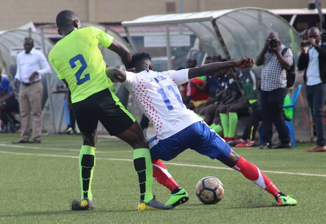 Action between Proline FC and Busoga United on Tuesday. (PHOTO/Courtesy)