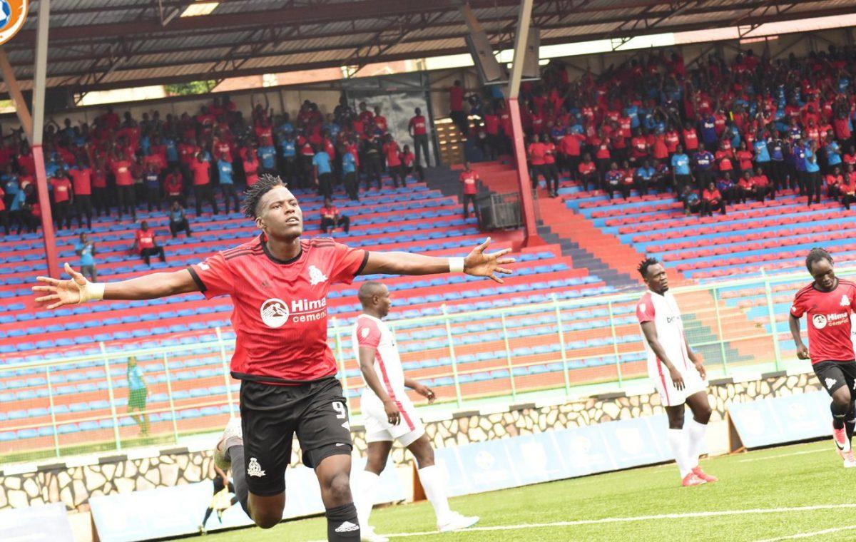 Bayo celebrates scoring the first goal against Express FC on Saturday. (PHOTO/Courtesy)