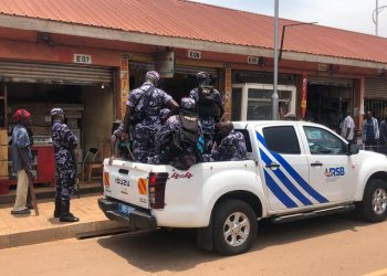 URSB during an enforcement downtown where they confiscated films that were being sold without a security device issued by the Uganda Federation of Movie Industry(UFMI). (PHOTO/PML Daily)