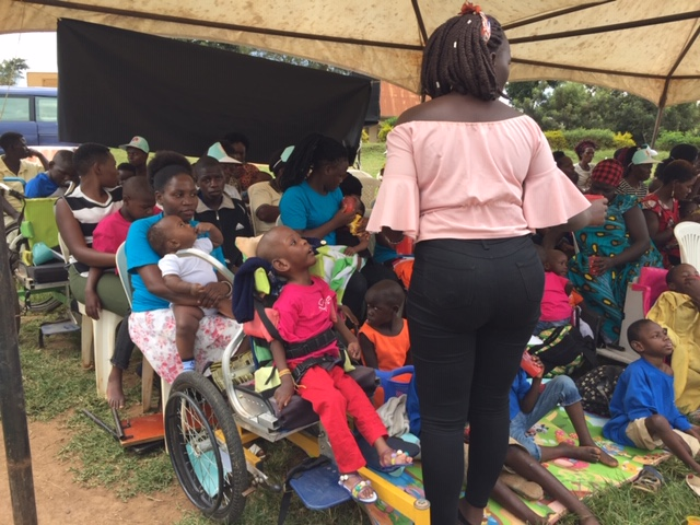 Some of the children with cerebral palsy sleeping in a tent at the Bukerere grounds in Mukono District. (PHOTO/Namajja Elizabeth)