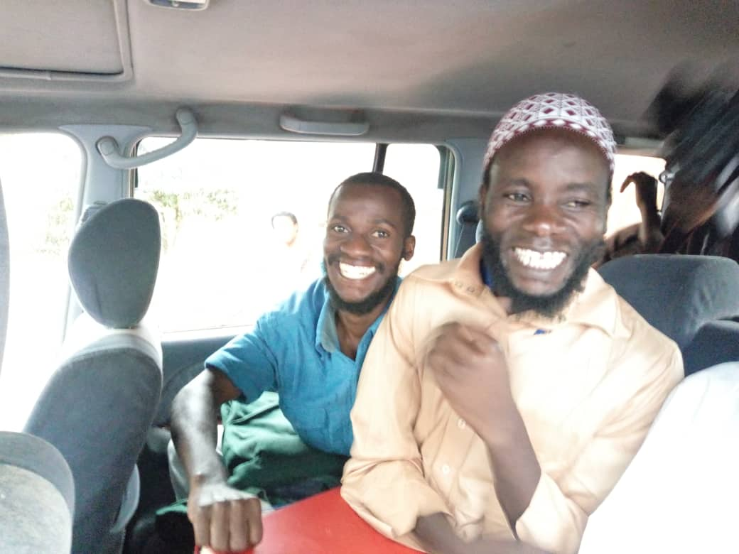 Kasujja and Balyejusa going home after being released at Nabweru court. Photo by Rachel Agaba