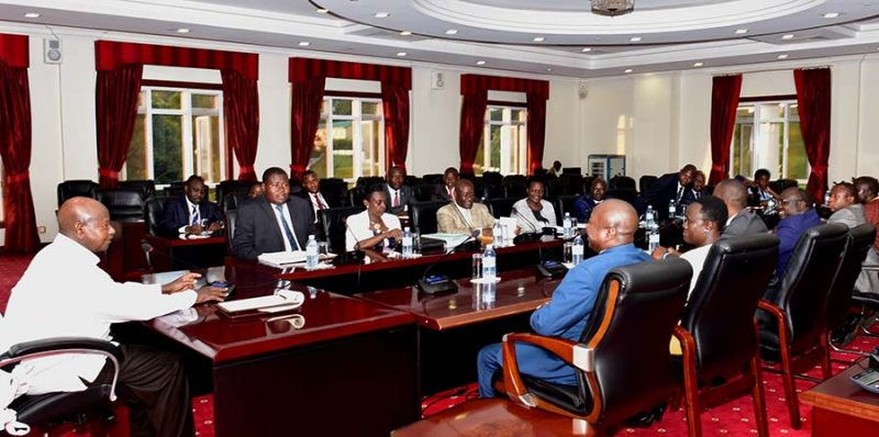 Legal Committee meeting with President Yoweri Museveni on presidential age limit consultations