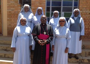 A group photo of the New Council with Archbishop Cyprian Kizito Lwanga