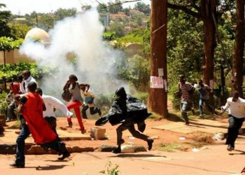 Makerere University students teargassed as they persist to strike over 15% tuition increment on Wednesday (PHOTO/File).