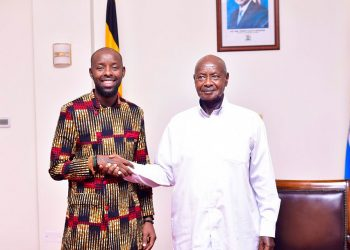 Singer Eddy Kenzo visiting President Museveni at State House Entebbe