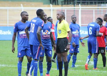 Kiwewa (In Yellow) during a Uganda Cup game between SC Villa and Vipers SC in 2017. (PHOTO/Courtesy)