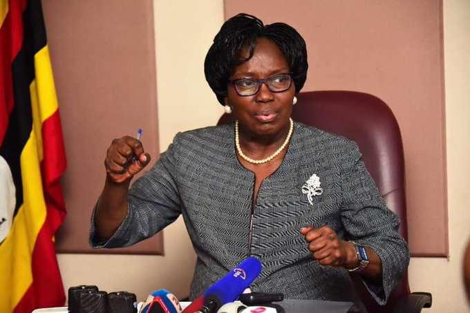 Speaker Kadaga addressing press on recently concluded Commonwealth Parliamentary Conference (PHOTO/PML Daily)