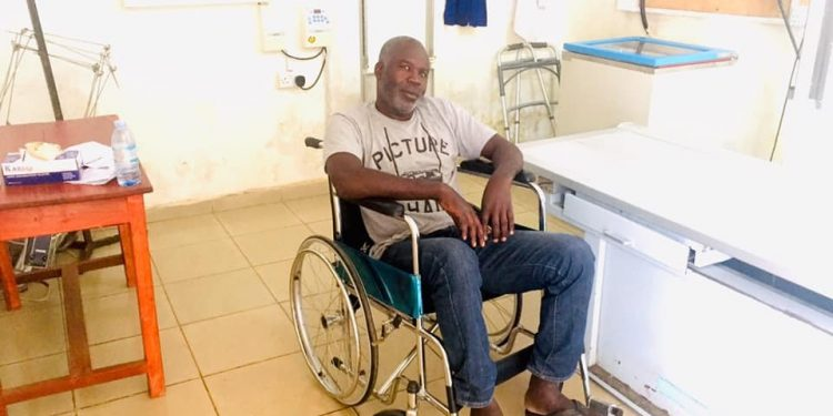 Ugandan journalist battered by security personnel during Bobi protests now confined to wheel chair. (PHOTO/File)