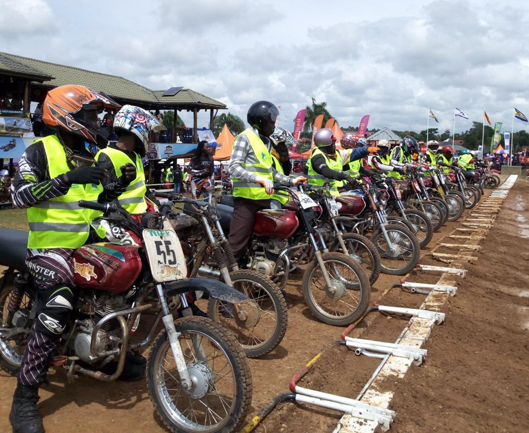 Boda boda riders at the starting point ready to hit the track (PHOTO/Abraham Mutalyebwa)