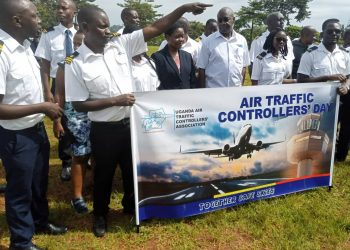 Air traffic controllers were celebrated for their contributions to the sustenance of the aviation industry. (PHOTO/Javira Ssebwami)