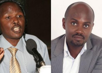 Andrew Mwenda and former intelligence operative Charles Rwomushana respectively (PHOTO/File)