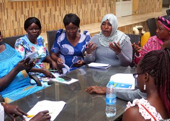 The group discussed the development of a road map for ensuring that the provision for 35 percent representation of women in the unified transitional government
