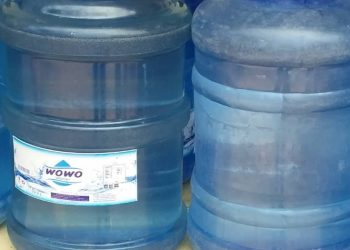 Some of the siezed wowo water products (PHOTO/File)