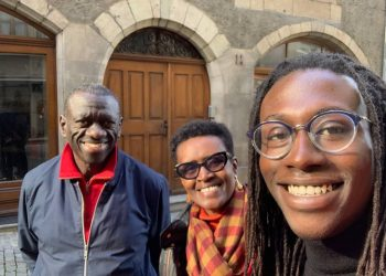 Dr Kizza Besigye and Wife together with their son in Switzerland (PHOTO/Courtesy)