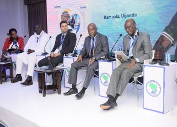 Africa Water Association delegates during a meeting at the NWSC Bugolobi-based International Resource Centre in Kampala on Tuesday (PHOTO/Courtesy).