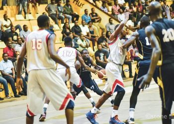Action between UCU Canons and Betway Power on Tuesday. (PHOTO/FUBA)