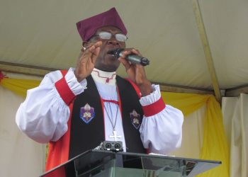 Rt. Rev. Wilberforce Kityo Luwalira, the bishop of Namirembe Diocese