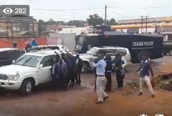 FDC in a pull and push with Police as it moves to block party's gathering at Nambole Stadium on Monday