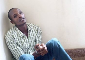 Munyaribanje Richard who was intercepted and arrested in possession of ivory pieces on Wednesday (PHOTO/Micah).