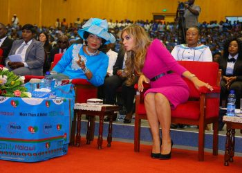 Dr. Rasha Kelej, CEO of Merck Foundation and President, Merck More than A Mother with H.E. PROF. GERTRUDE MUTHARIKA, The First Lady of Malawi and Ambassador of Merck More Than a Mother (1)