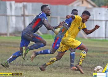 Action between URA FC and SC Villa on Friday. (PHOTO/URA FC)