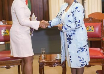 Kenya First Lady Margaret Kenyatta was commended for front line role in promotion of maternal and child health (PHOTO/Courtesy)