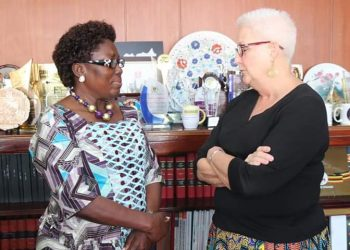 Speaker of Parliament Kadaga has met and held discussions with a delegation from the American Embassy in Uganda, led by Ambassador Deborah Malac (PHOTO/Courtesy)