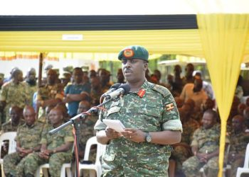 Chief of Defense Force Gen David Muhoozi making a communication during the function (PHOTO/Courtesy)