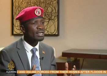 Speaking to Aljazeera on Saturday morning, Bobi Wine said the people of Uganda will rise up against Museveni in 2021 (PHOTO/Screenshot Courtesy).