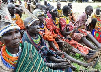 FGM surgeons sitting waiting to hand over their tools to the former State Minister of Gender and culture Ms. Rukia Nakadama in 2015 (PHOTO/File).