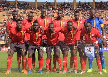 The Uganda Cranes starting XI against Malawi on Sunday (PHOTO/FUFA Media).