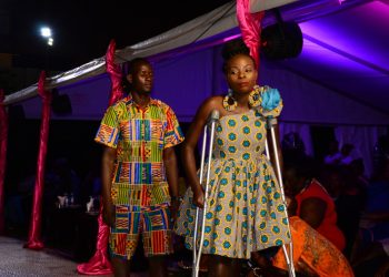 Disabled persons at  Malengo Hot pink Charity Fashion show