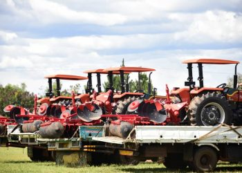 Tractors handed over by speaker Kadaga (PHOTO/Courtesy).