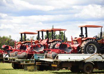 Tractors handed over by speaker Kadaga (PHOTO/Courtesy).