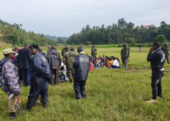 A group of Rwandan and Congo nationals paraded before they were deported (PHOTO/PML Daily).