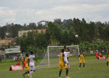 Action between Mbarara City FC and Bright Stars FC on Wednesday. (PHOTO/Courtesy)