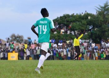Jamal Malish during the 7-1 win over Kyetume FC on Friday. (PHOTO/Onduparak FC)