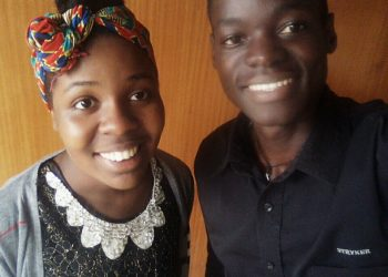 Vanessa Kumuri and Julius Domba are students at Mbarara University of Science and Technology Uganda (PHOTO/Courtesy).