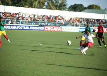 Action between Ugandaand Ethiopia on Tuesday. (PHOTO/FUFA)