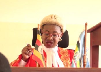 Mukono high court judge, Justice Margret Mutonyi during the court session (PHOTO/Elizabeth Namajja).