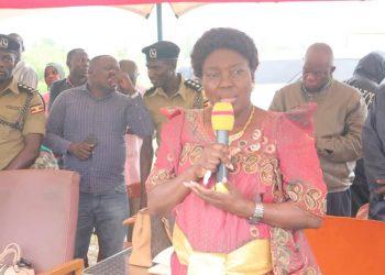 Kadaga speaks at the launched the Taaka Agnes Wejuli Development Foundation in Kapyanga, Bugiri.