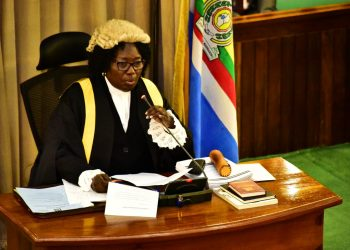 Speaker Kadaga during Wednesday's plenary sitting (PHOTO/PML Daily).