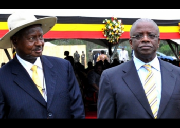 President Museveni and Ex Prime Miniser Amama Mbabazi respectively at a function (PHOTO/File).