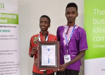 Members of the VepoX Filter team that emerged Second in the ClimateLaunchpad-Uganda edition of the competitions held on 26th September 2019 in Kampala. VepoX Filter represented Uganda and Makerere University at Regional and Global Finals that took place in Nairobi and Amsterdam Netherlands respectively (PHOTO/FilterVepo).