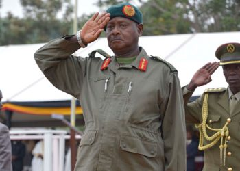 President Museveni salutes