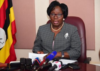 Speaker Rebecca Kadaga addressing press on Wednesday (PHOTO/PML Daily)