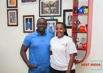 Sheila Nduhikire and Next Media CEO Kin Kariisa. (PHOTO/Courtesy)